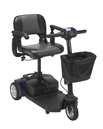 Spitfire EX Travel 3-Wheel Mobility Scooter - Option: 21AH Batteries