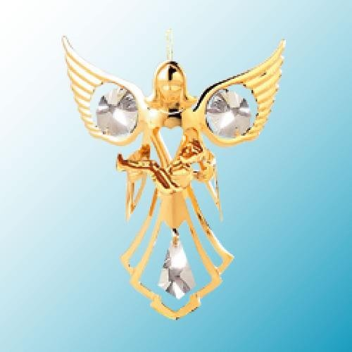 Angel W/ Baby Hanging Sun Catcher or Ornament..... With Clear Swarovski Austrian Crystals