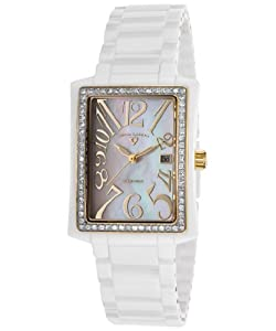 Swiss Legend Women's 10034D-WWGA Bella Analog Display Swiss Quartz White Watch