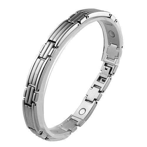 Stainless Steel Magnetic Link Bracelet (8.5 IN)