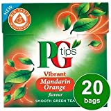 PG tips Mandarin Orange Green Tea 20s Pyramid Teabags 20 per pack
