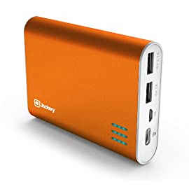 Jackery Giant+ Premium Fast-Charging Aluminum Portable Charger 12000mAh External Battery Pack Power Bank with Dual USB Port for Apple iPhone 5S, 5C, 5, 4S, iPad, Air, Mini, Samsung Galaxy S4, S3, Note, Nexus, LG, HTC. USB Charger, Portable Charger, Portable Phone Charger, USB Battery Pack, Dual USB Car Charger, Power Bank, Portable Battery for Mobile Devices.