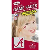Alabama Crimson Tide Game Faces Waterless 4 piece Tattoos at Amazon.com