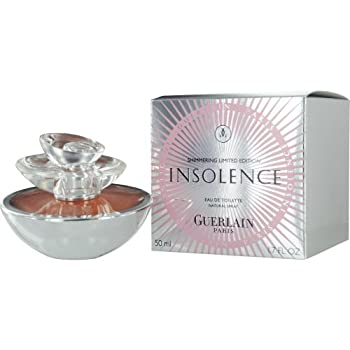 INSOLENCE by Guerlain for WOMEN EDT SPRAY 1.7 OZ (SHIMMERING LIMITED EDITION) Launched by the design house of Guerlain in 2006, INSOLENCE by Guerlain possesses a blend of Notes include violet, raspberry, red fruit pulp, rose, orange blossom, iris, to...