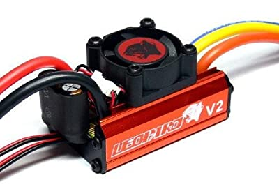 Leopard 1/10 Combo, 60A V2 ESC with 3300KV 12T Brushless Motor, Includes Program Card