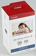Comprar Canon KP-108IN - Papel fotográfico y cartucho de tinta original para Selphy CP, color