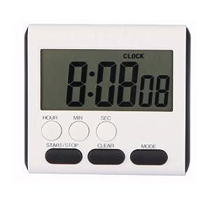 EVELTEK digital kitchen alarm timer, large LCD display,loud sounding alarm,Countdown or CountUp for Cooking/School /Games