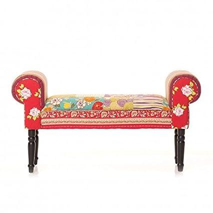 Sitzbank 'Patchwork', 99 cm, mehrfarbig