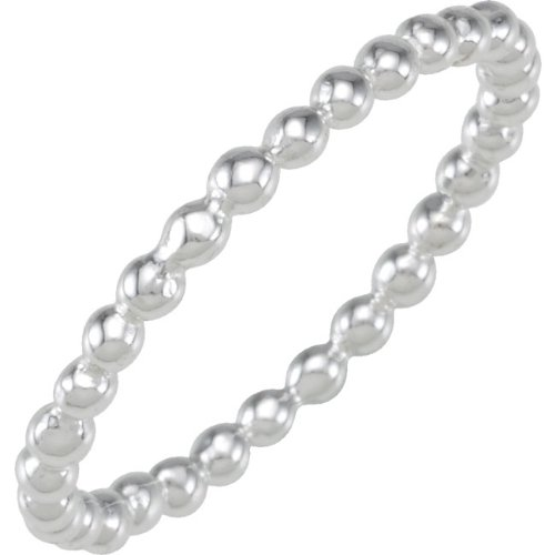 Sterling Silver Stackable Fashion Beads Band (7)
