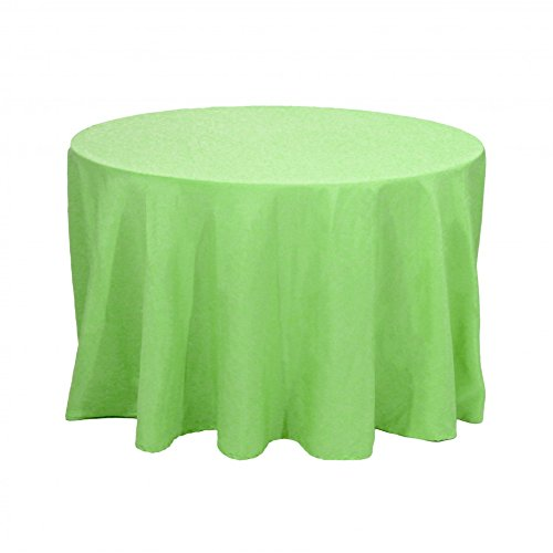 Koyal Round Polyester Tablecloth, 120-Inch, Kiwi Green
