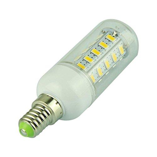 Eyourlife 7W 110V Gu10 36 Smd 5730 Led Bulbs Corn Bulb With Cover Warm White