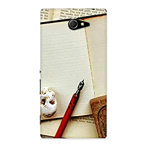 Stylish Little Diary Multicolor Back Case Cover for Sony Xperia M2