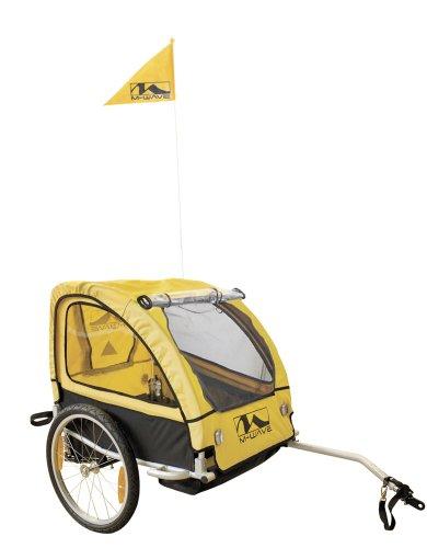 m wave alu kinder und gep ck fahrradanh nger gelb 20 zoll. Black Bedroom Furniture Sets. Home Design Ideas