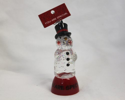 "St. Nicholas Square Lighted Snowman Ornament ""You Are Special"""