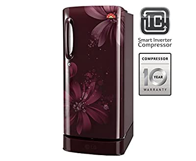 LG GL-D221ASAI.DSAZEBN Direct-cool Single-door Refrigerator (215 Ltrs, 5 Star Rating, Scarlet Aster)