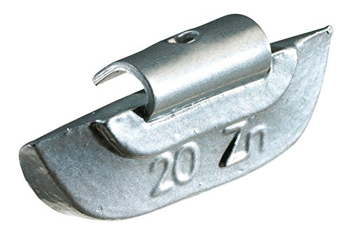 KS Tools 100.1025 - Pesi di equilibratura a gancio in acciaio per cerchioni, confezione da 100 pezzi, 25 gr