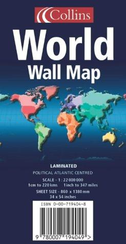 World Wall Map: Political, Atlantic Centred PDF
