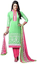 Airboyz Women's Art Silk Unstitched Dress Material (Green)