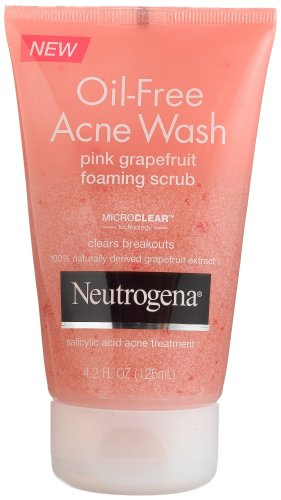 Neutrogena Oil-Free Acne Wash Foaming Scrub, Pink Grapefruit, 4.2 Ounce (Pack of 3)