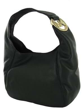 michael kors fulton medium shoulder bag in black handbags