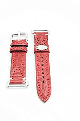 Fendi Selleria Watch Band Ladies Leather Strap (Red)