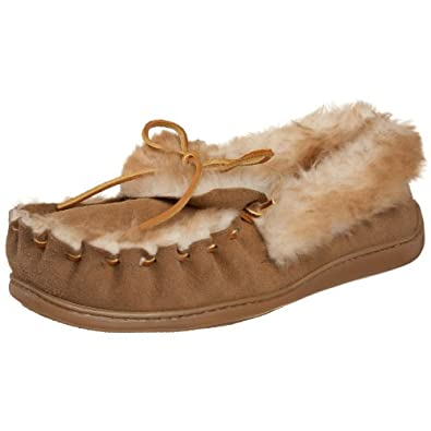 Minnetonka Men's The Ultimate Sheepskin Slipper,Tan,7 M US