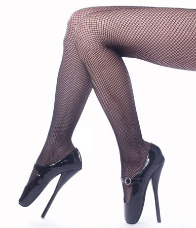 7 Inch Sexy High Heel Fetish Ballet Shoes Black Patent Devious