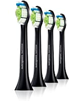 Philips Diamond Clean HX6064/33 Standard Replacement Brush Heads Black Pack of 4
