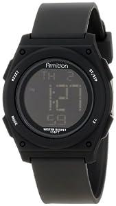 Armitron Sport Unisex 45/7027BLK Black Resin Strap Chronograph Watch