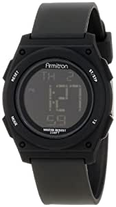Armitron Sport Unisex 45/7027BLK Black Resin Strap Chronograph Watch