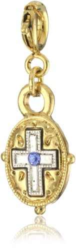 The Vatican Library Collection Dual Tone Cross Charm