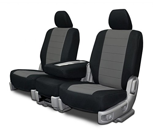 Custom Seat Covers - Chevy Silverado 40-20-40 - Charcoal Neoprene Fabric