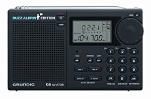 ETON G6 Aviator Buzz Aldrin Edition AM/FM, Aircraft band and Shortwave Radio, Black (Discontinued by Manufacturer)