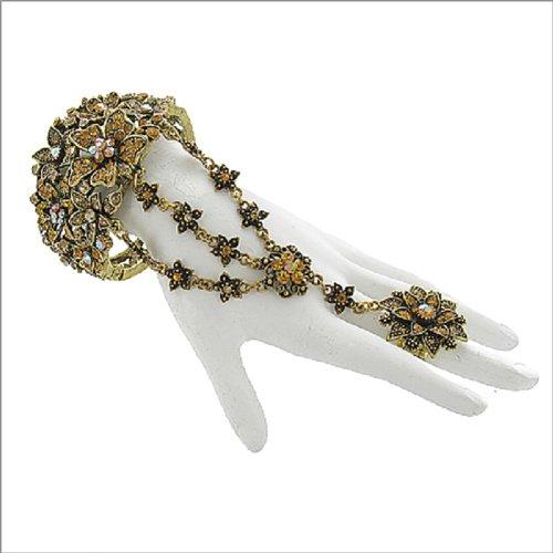 Stone Floral Design Ring & Bracelet #041789