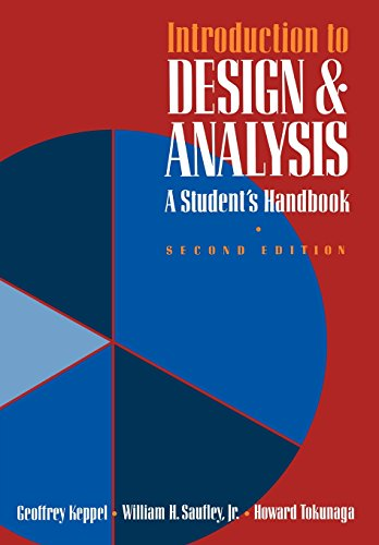 Introduction To Design And Analysis: A Student's Handbook (A Series of Books in Psychology)