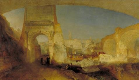 Oil Painting 'Joseph Mallord William Turner - Forum Romanum, For Mr Soane' s Museum,1826', 10 x 17 inch / 25 x 44 cm, on High Definition HD canvas prints, Bed Room, Kids Room And Study Room Decoration