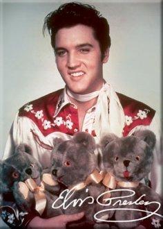 Elvis Presley Magnet Elvis With Teddy Bears