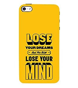 Lose Your Dreams Mind 3D Hard Polycarbonate Designer Back Case Cover for Apple iPhone 4S