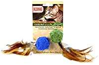 KONG Naturals Crinkle Ball with Feathers Cat Toy 2 pieces