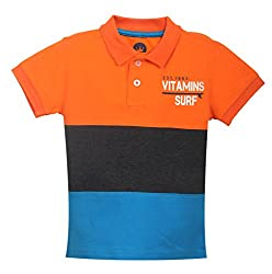 Vitamins Boys' T-Shirt (08Tb-447-2-Orange_Orange_2 - 3 Years)