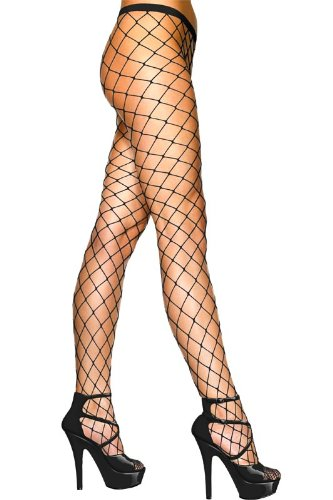 Paire-De-Collants-Rsilles-Diamond-Noir-Taille-Unique