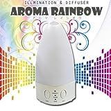 7色に光る超音波アロマ加湿器!アロマ芳香器機能付き 『アロマレインボウ』
