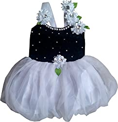 Cute Fashion Kids Girls Baby Princess Black Party Wear Flower Dresses Skirt Clothes 3 - 6 Months