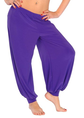 Miss Belly Dance Women's Belly Dance Stretchy Lycra Cotton Harem Pants