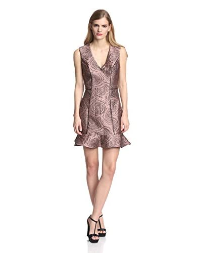 A.B.S. by Allen Schwartz Women's Jacquard Dress with Flounce