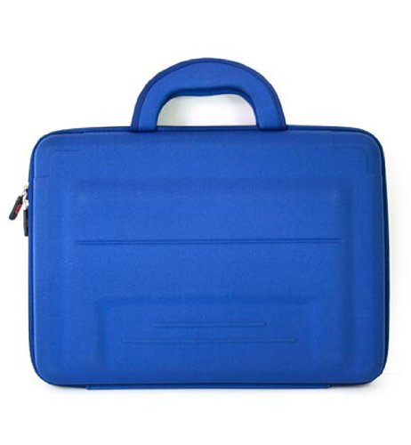 SONY 13.3 inch Notebook Laptop Chest VAIO VGN-SZ110B Carrying Case in Blue Neoprene EVA + EnvyDeal Velcro Rope Tie