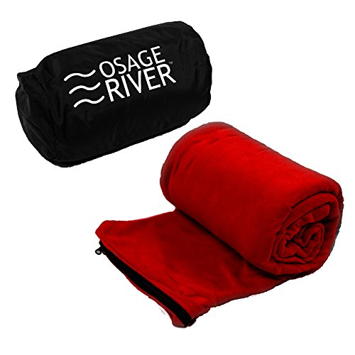 Osage River Microfiber Fleece Zippered Sleeping Bag Liner with Carry Storage Bag (Sleeping Bag Liner Insulated compare prices)