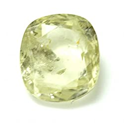 LOOSE 100% NATURAL & CERTIFIED 4.35 ct. YELLOW SAPPHIRE BIRTHSTONE BY ARIHANT GEMS & JEWELS