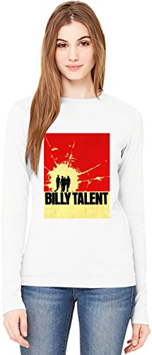 Billy Talent T-Shirt da Donna a Maniche Lunghe Long-Sleeve T-shirt For Women| 100% Premium Cotton Ultimate Comfort Large