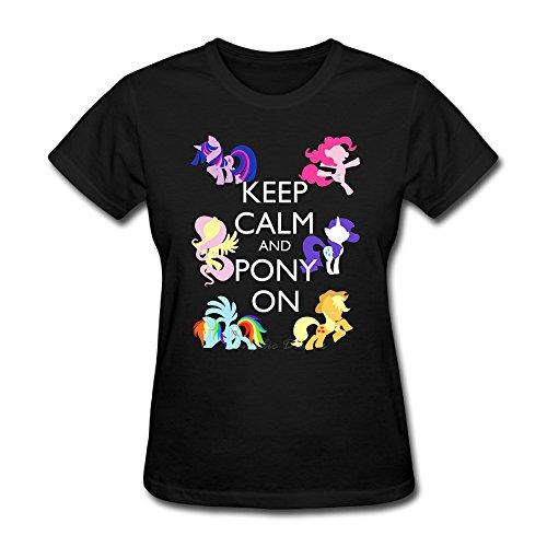 Q-QQ9 -  T-shirt - Donna Black X-Small